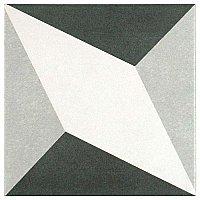 "Twenties Vintage Diamond 7-3/4"" x 7-3/4"" Ceramic Tile - Sold Per Tile - .42 Square Feet Per Tile"