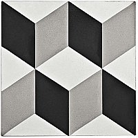 "Cemento Lloyd Classice - 7-7/8"" x 7-7/8"" Handmade Cement Tile - Per Case of 12 - 5.51 Sq. Ft"