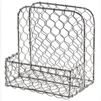 Galvanized Metal Chickenwire Napkin Holder