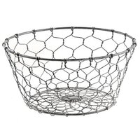 Galvanized Chicken Wire Egg Basket