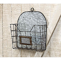 Galvanized Steel Industrial Metal Wire Mail Wall Pocket