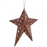 Rustic Metal Primitive Star - 4""