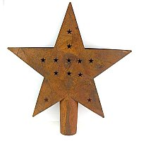 Rusty Tin Star Tree Topper