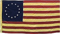 "Betsy Ross American Flag - Antiqued - Large 58"" Wide"