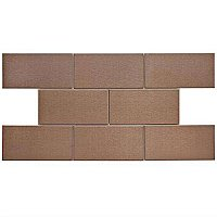 "Alloy Subway Copper 3""x 6"" Stainless Steel & Porcelain Tile - Metallic Copper - Per Case of 8 Pieces - 1 Square Feet"