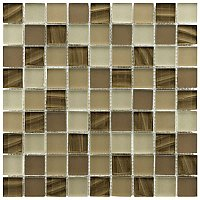"Atlantis 1-1/4"" Square Glass Tile - Nautilis - .96 Square Feet Per Sheet"