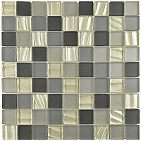 "Atlantis 1-1/4"" Square Glass Tile - Troctus - .96 Square Feet Per Sheet"