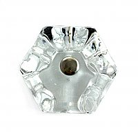"Clear Glass Hexagonal Knob, 1-3/4"", Front Mounted"