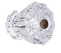 "Clear Glass Fluted Knob - 1-1/2"" Diameter - Large"