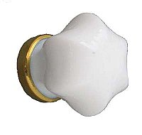 White Glass Cabinet Knob - While Supplies Last