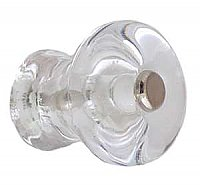 "Clear Smooth Glass Knob - 1-1/8"" - Front Mounted"