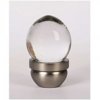 Glass Acorn Knob- Transparent Clear & Brushed Nickel