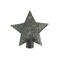 Punched Tin Star Tree Topper - Small