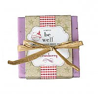 Simply Be Well Handcrafted Bar Soap - Cranberry