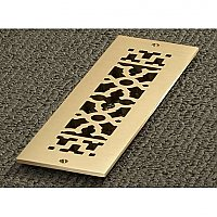 "2-1/4"" x 10"" Solid Brass Register"