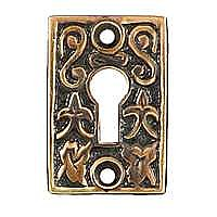 Ivy Leaf Keyhole Cover, Antique Copper