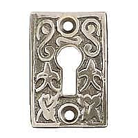 Ivy Leaf Keyhole Cover, Antique Nickel