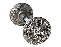 Rice Doorknob, Pair, Antique Nickel