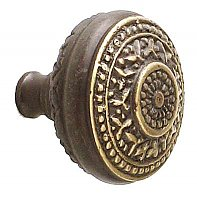 Rice Large Cabinet Knob, Antique Brass