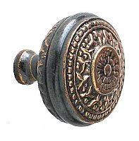 Rice Large Cabinet Knob, Antique Copper