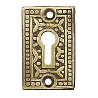 Rice Keyhole Cover, Antique Brass