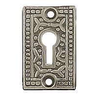 Rice Keyhole Cover, Antique Nickel