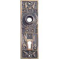 Sargent 1875 Doorplate, Antique Copper