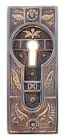 Sargent 1875 Pocket Door Flush Pull, Antique Copper