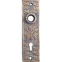 Butterfly Doorplate II, Antique Copper