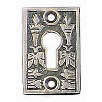Butterfly Keyhole Cover, Antique Nickel