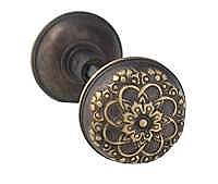 Louis XIII Doorknob, Pair, Antique Brass