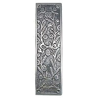 Daisy Pushplate, Antique Nickel
