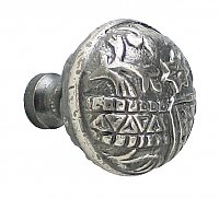 Oriental Large Cabinet Knob, Antique Nickel