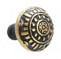Windsor Large Cabinet Knob, Antique Brass