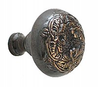 Lorraine Large Cabinet Knob, Antique Copper