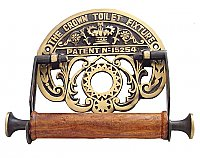 Crown Toilet Paper Holder - Antique Brass