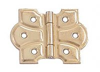 Butterfly Cabinet Hinge Pair, Polished Brass