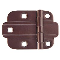 Art Deco Flush Cabinet Hinge, Oil Rubbed Bronze
