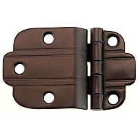 Art Deco Offset Cabinet Hinge, Oil Rubbed Bronze