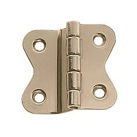 Hoosier Offset Cabinet Hinge, Polished Nickel