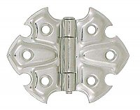 Butterfly Cabinet Hinge Pair, Polished Nickel