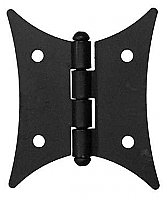 Country Hinge, Flat Black, Pair