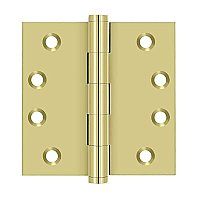 "Solid Brass 4"" x 4"" Square Hinge - Pair"