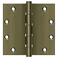 "Solid Brass 5"" x 5"" Square Ball Bearing Hinge - Pair"