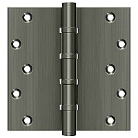 "Solid Brass 6"" x 6"" Square Ball Bearing Hinge - Pair"