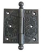 "Cast Iron Door Hinge Pair 3.5"" x 3.5"""