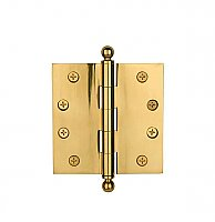 "4"" X 4"" Steel Door Hinge - Polished Brass"