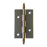 Finial Tip Cabinet Hinge, Antique Finish
