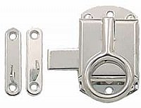 Hoosier Ring Latch - Polished Nickel - Right