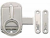Hoosier Ring Latch - Polished Nickel - Left